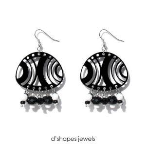 d'shapes orecchini medusa nero bianco